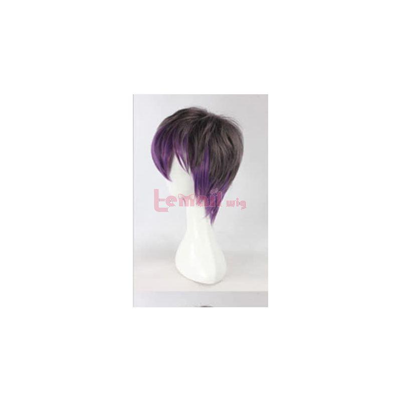 35CM Short Harajuku style Mixed Colour Fashion Wig