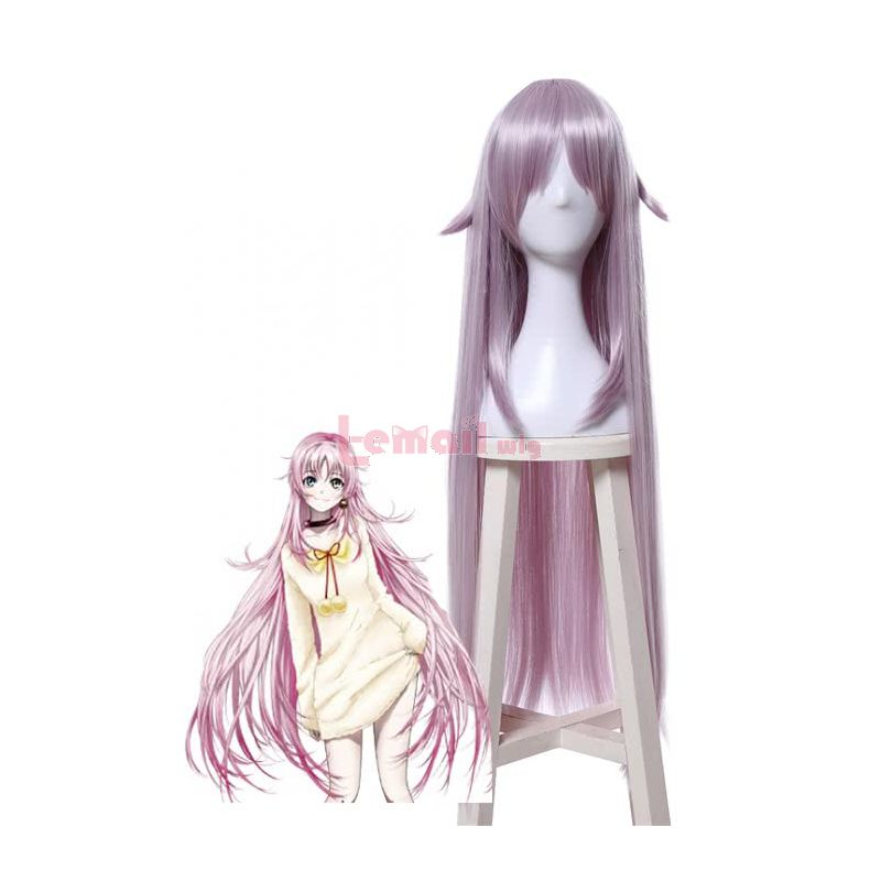 100CM Pink Straight K Project Neko Cosplay Wigs