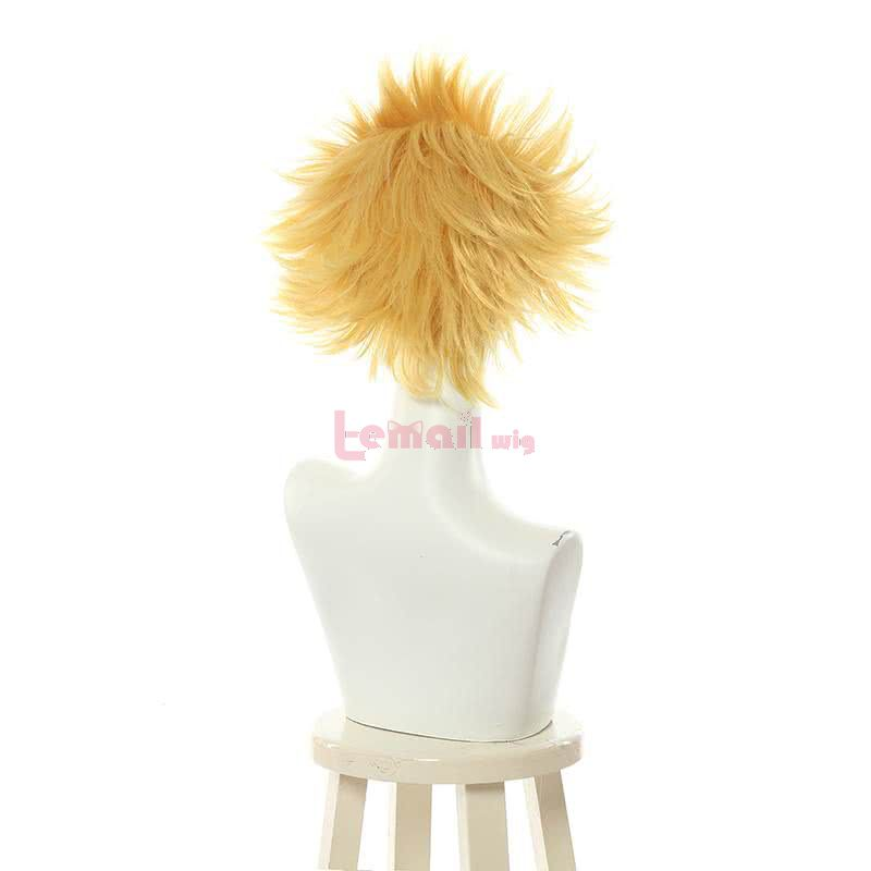 Fate/stay night Blonde Short Styled Synthetic Hair Curly Cosplay Wigs