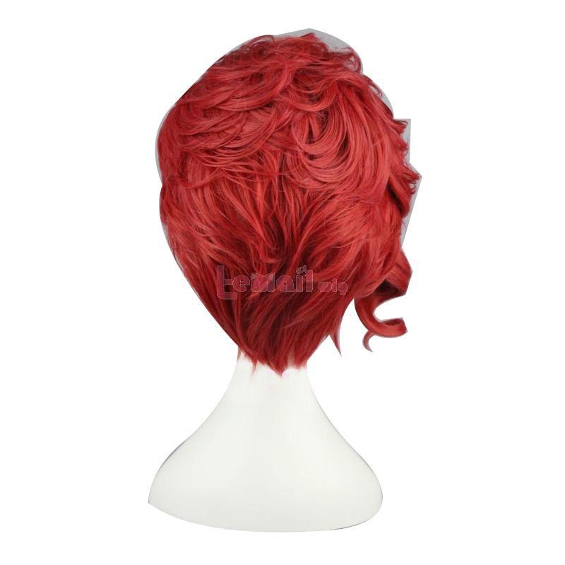JoJo's Bizarre Adventure Kakyouin Noriaki Short Red Curly Cosplay Wigs