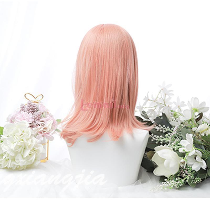Harajuku Pink Orange Lolita Wigs Long Straight Cosplay Wigs