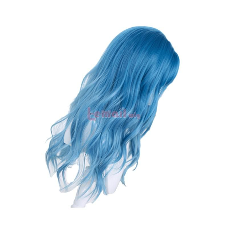 Harajuku Curly Wigs Women Long Wave Gradient Blue Lolita Wigs
