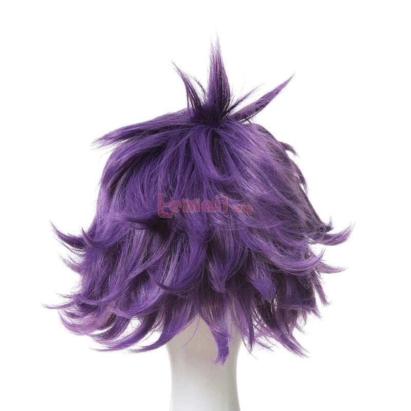Short Purple My Hero Academia Anime shinsou hitoshi Cosplay Wigs JF188