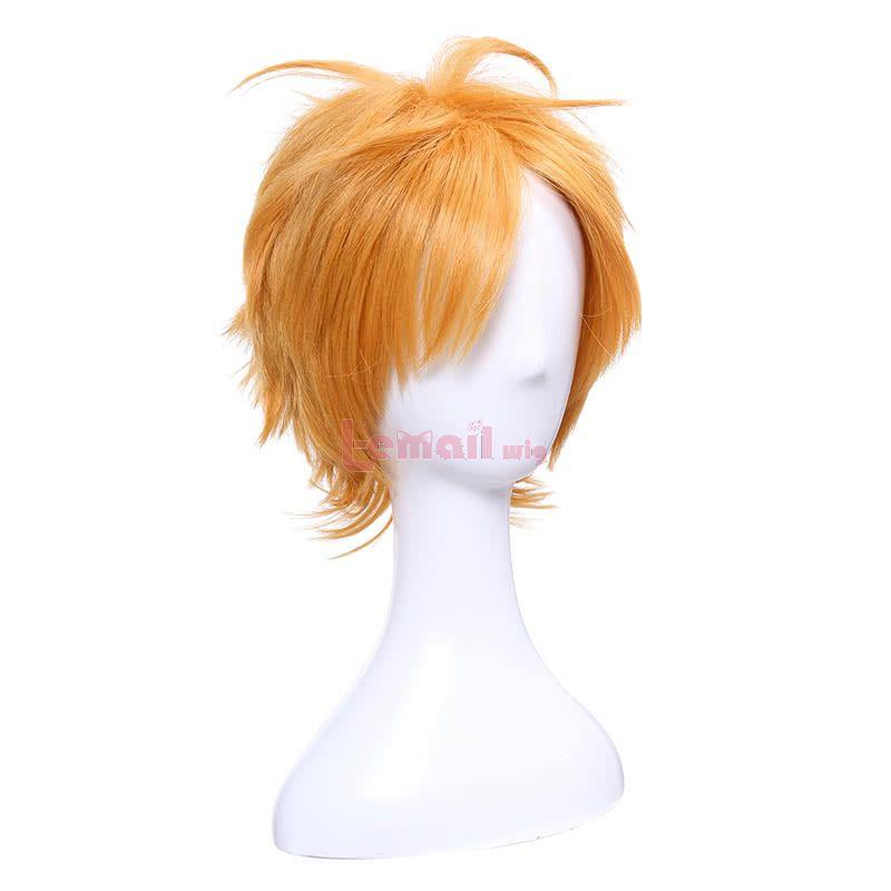 Bungou Stray Dogs Junichiro Tanizaki Anime Orange Brown Short Layered Cosplay Wigs