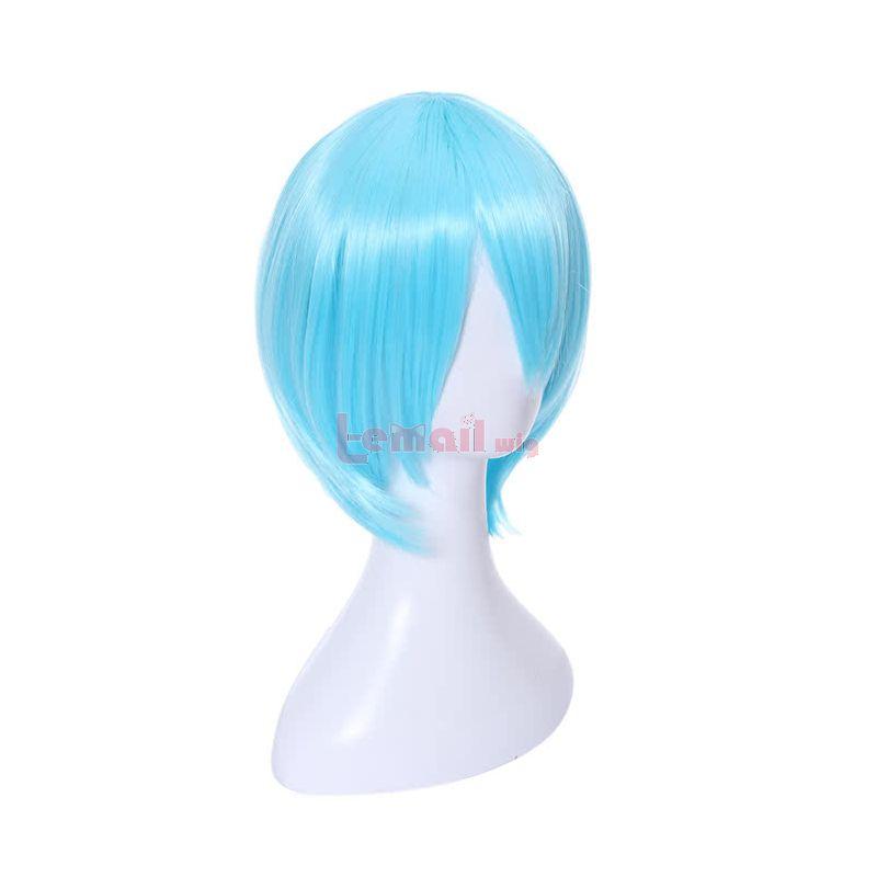 KILL LA KILL Inumuta Houka Short Blue Straight Synthetic Anime Cosplay Wigs