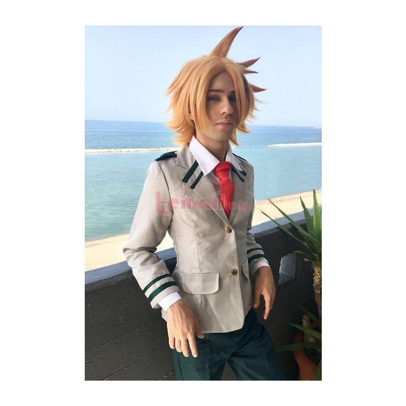 My Hero Academia Kaminari Denki Gold Synthetic Short Men Cosplay Wigs
