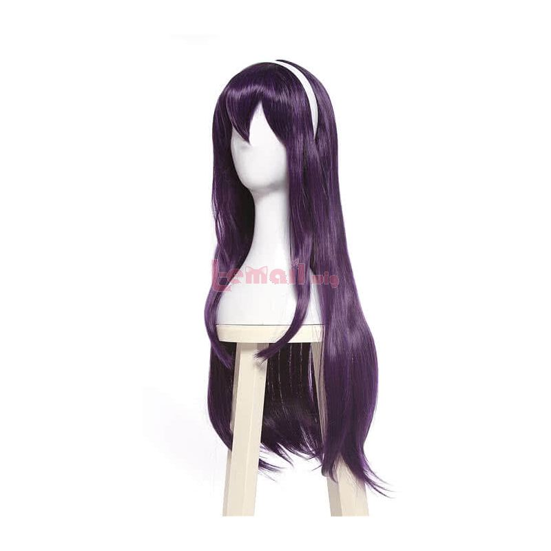 Anime Saenai Heroine no Sodatekata Utaha Kasumigaoka Purple Cosplay Wig