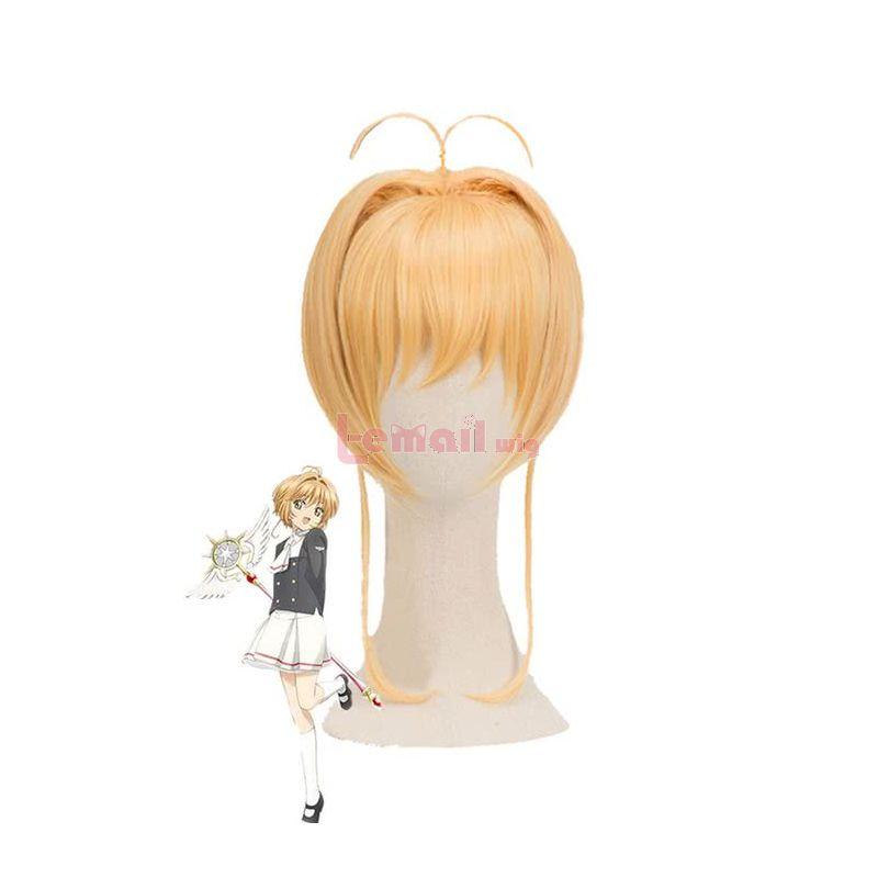 Anime CardCaptor Kinomoto Sakura Blonde Cosplay Wigs