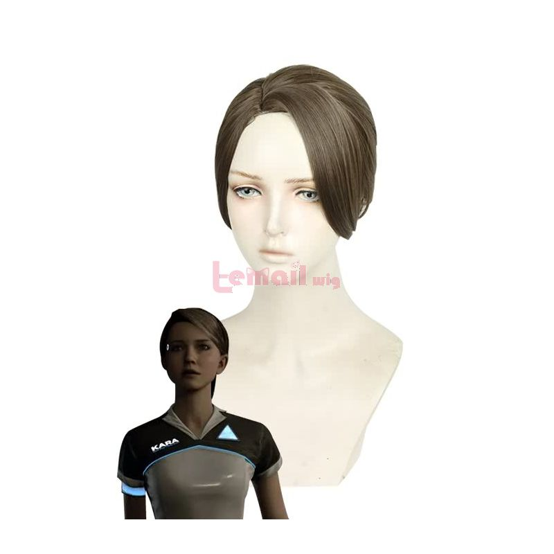 Detroit Become Human Kara Gold Brown Cosplay Wigs