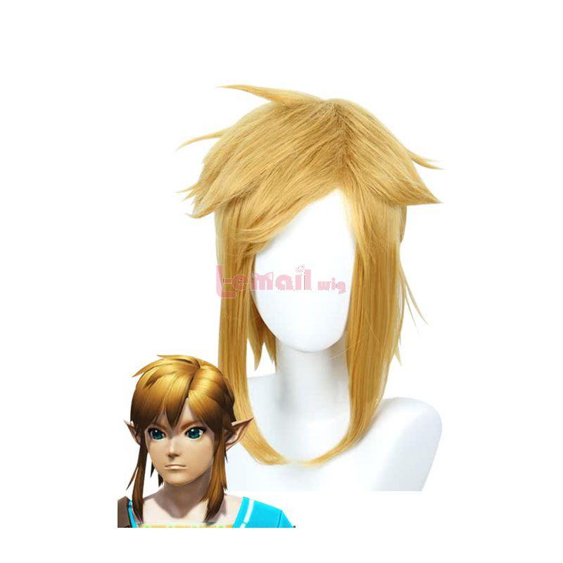 Game The Legend of Zelda Link Blonde Cosplay Wigs