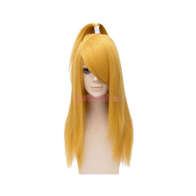 Anime Naruto Deidara Long Yellow Straight Cosplay Wigs