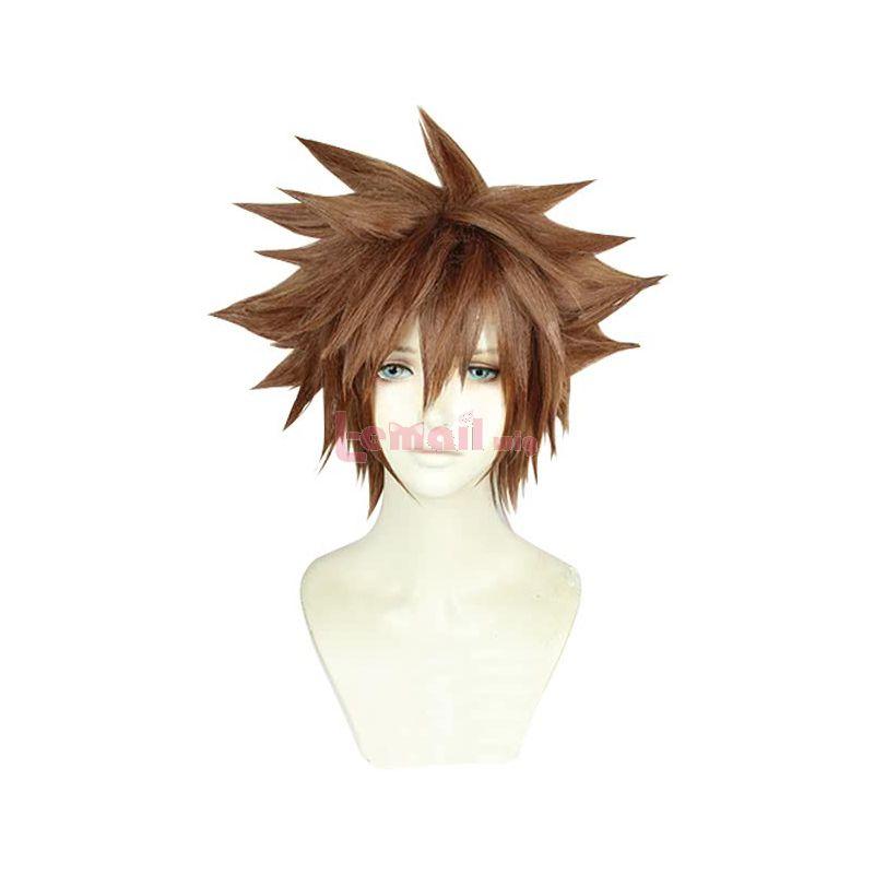 Game Kingdom Hearts III Sora Short Brown Cosplay Wigs