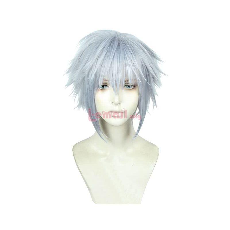 Game Kingdom Hearts III Riku Short Grey Cosplay Wigs