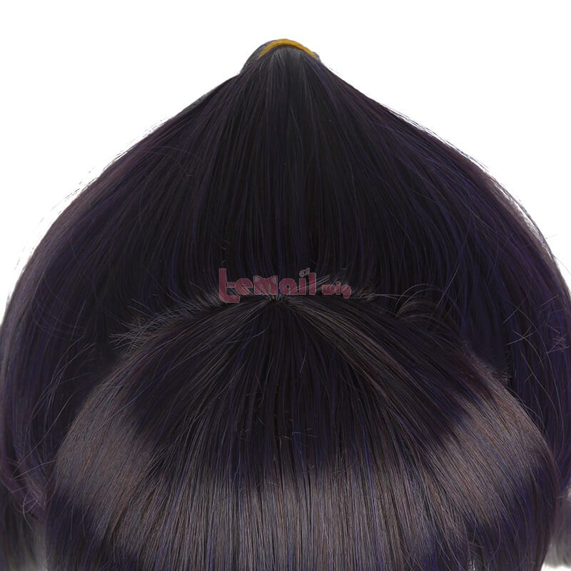Jujutsu Kaisen Lori Utahime Dark Blue Mixed Purple Cosplay Wigs