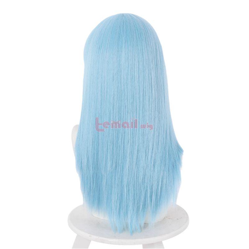 Jujutsu Kaisen Miwa Kasumi Light Blue Straight Cosplay Wigs
