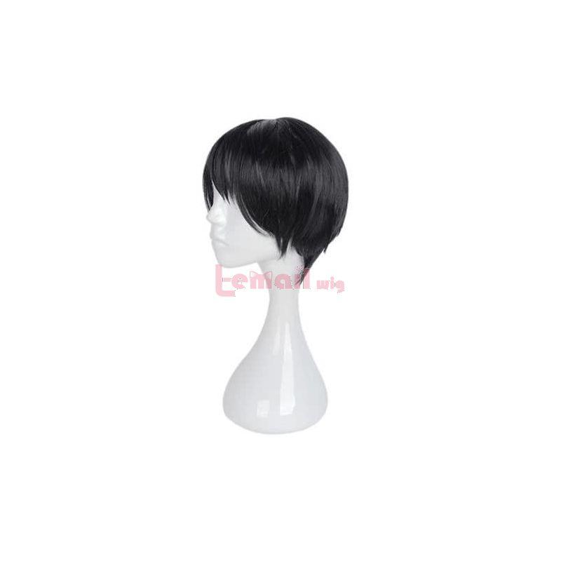 Kakegurui Kaede Manyuda Short Black Men Cosplay Wigs