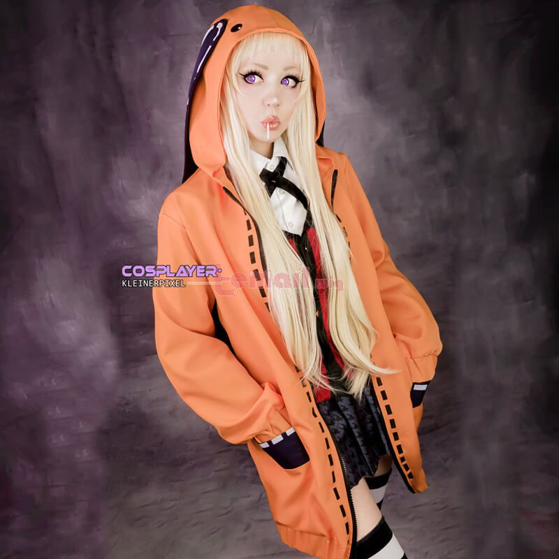 Anime Kakegurui Yomoduki Runa Coat And Uniform Cosplay Costumes