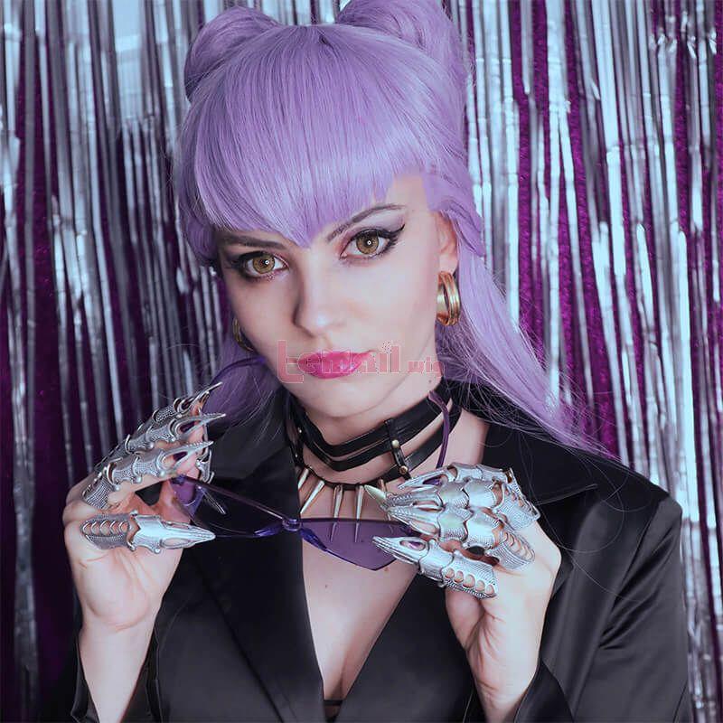 KDA BADDEST Evelynn Purple Cosplay Wigs
