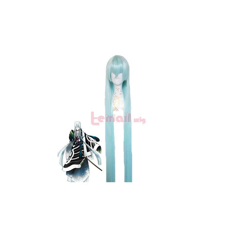 Touken Ranbu Online Kousetsusamonji Long Straight Light Blue Synthetic Hair Cosplay Wigs