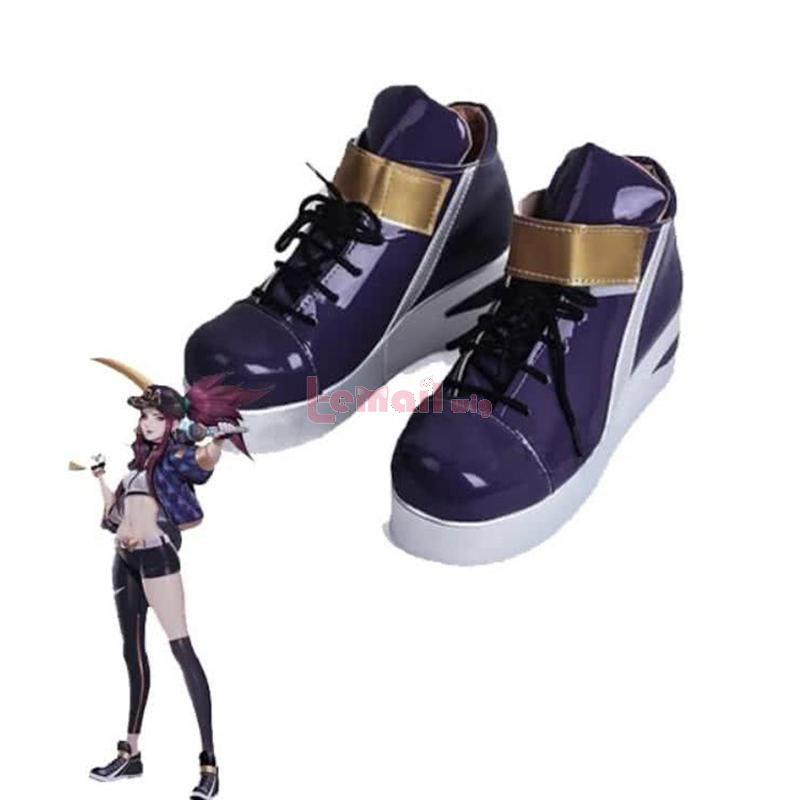 L-email LOL KDA Skin Akali Cosplay Shoes
