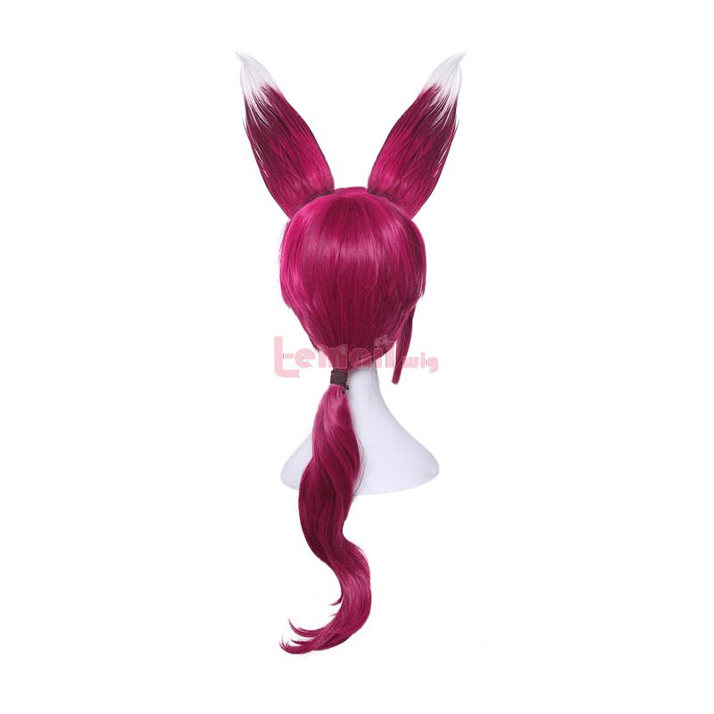 Game League of Legends New Heroes Xayah The Rebel Long Red Synthetic Women Cosplay Wigs