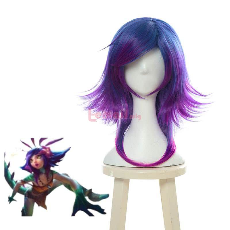 LOL Neeko Mixed Color Cosplay Wigs