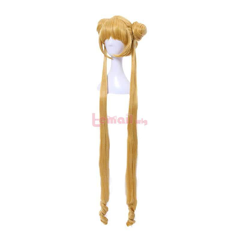 Sailor Moon Usagi Tsukino Long Straight Yellow Cosplay Wig