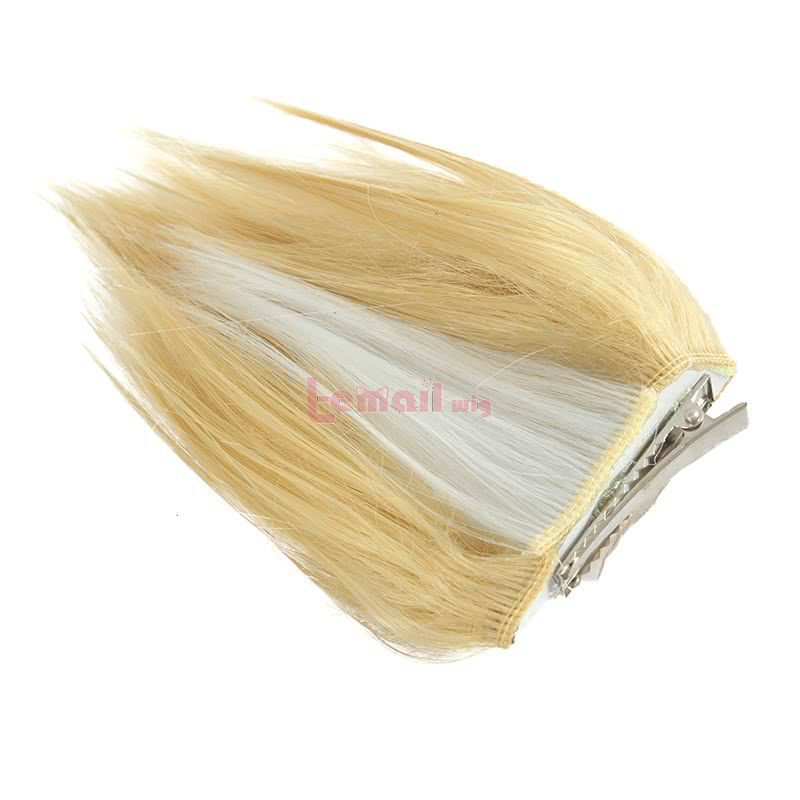 LOL Ahri Long Straight Blonde Cosplay Wigs With Ears