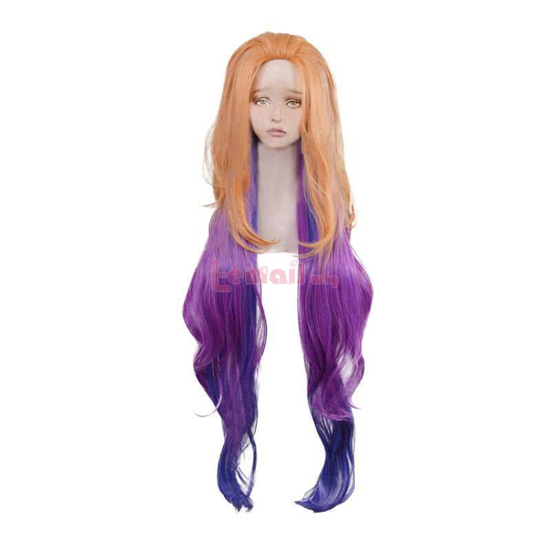 LOL Aspect of Twilight Zoe Purple Mixed Yellow Cosplay Wig