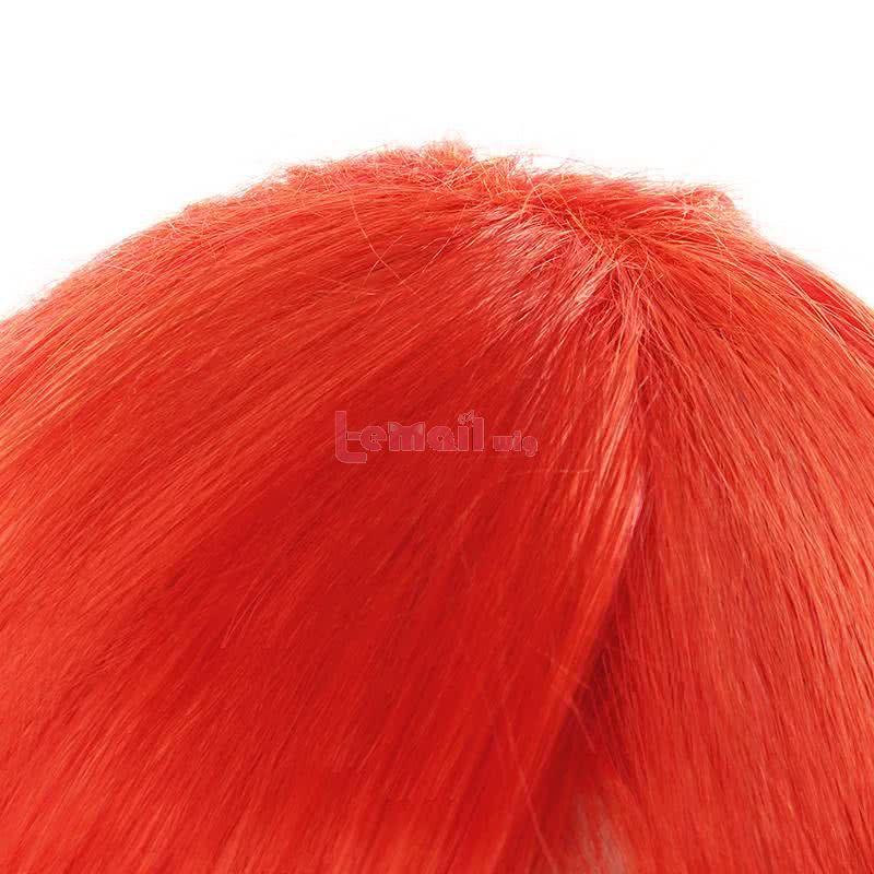 LOL Battle Academy Lux Long Orange Ponytail Cosplay Wigs