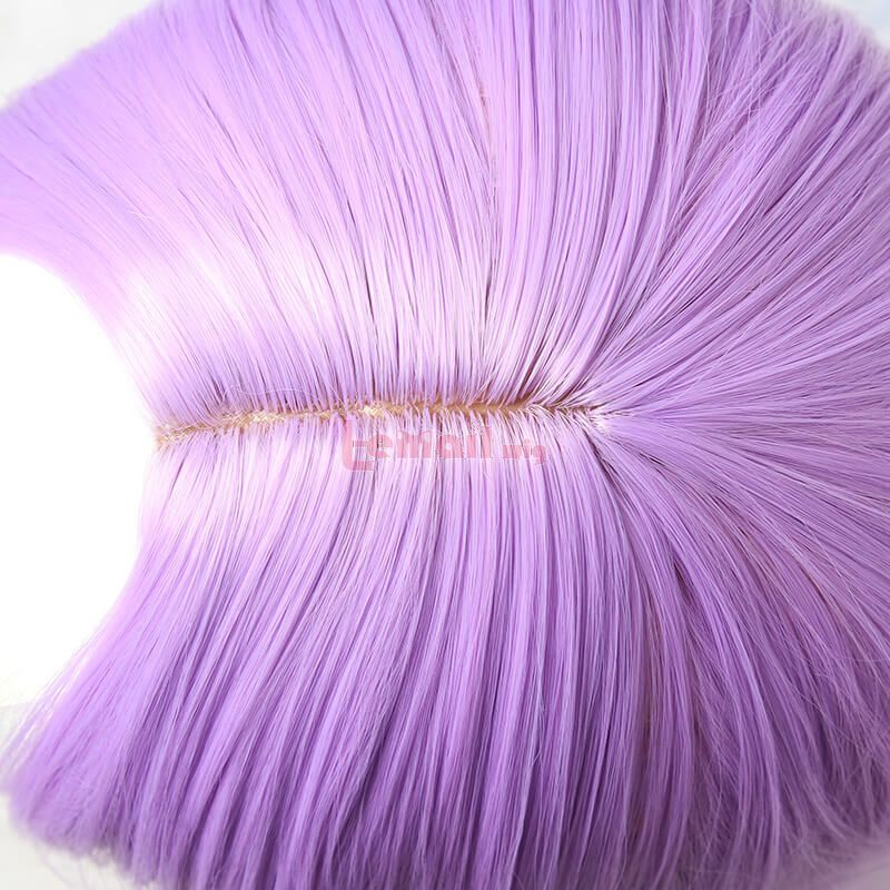 LOL Battle Queen Katarina Long Straight Purple Gradient Cosplay Wigs