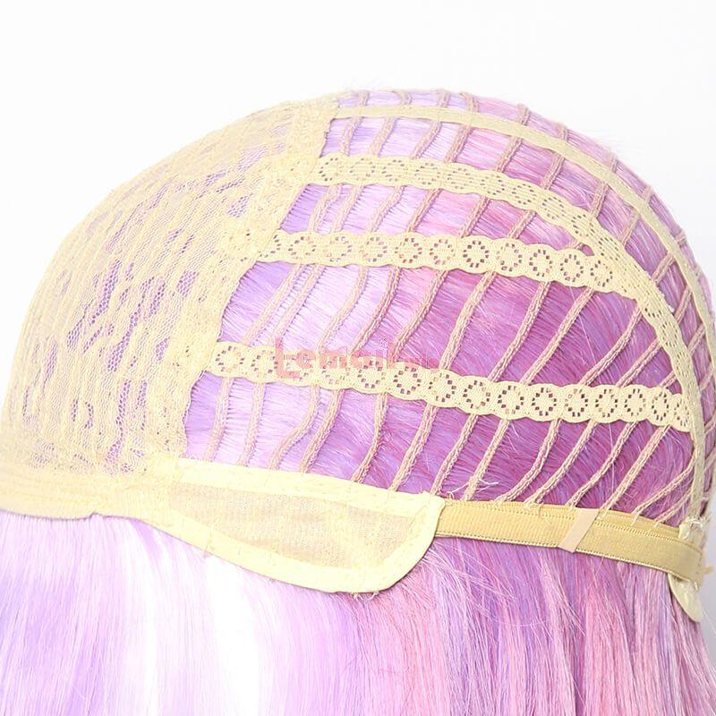 LOL Battle Queen Katarina Long Straight Purple Gradient Cosplay Wigs