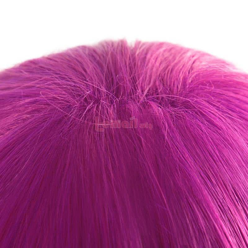 LOL Evelynn Long Braid Hot Pink Cosplay Wigs