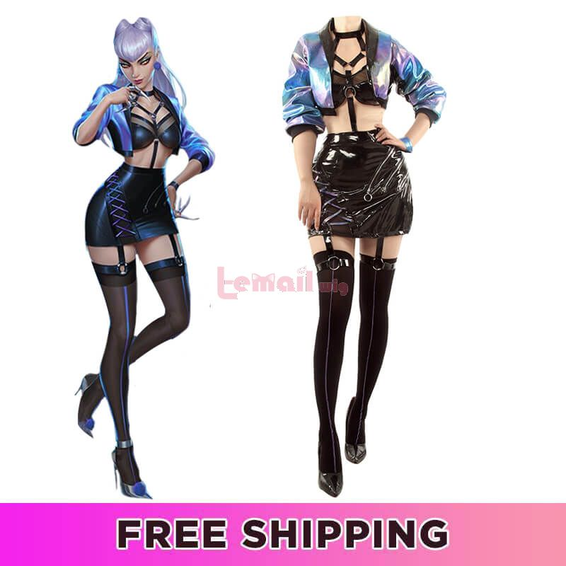 LOL KDA ALL OUT Evelynn Fullset Cosplay Costume
