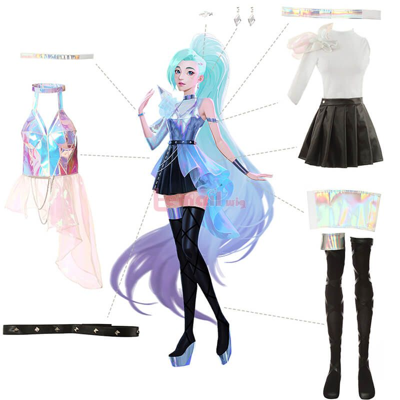 LOL KDA ALL OUT Seraphine Cosplay Costume