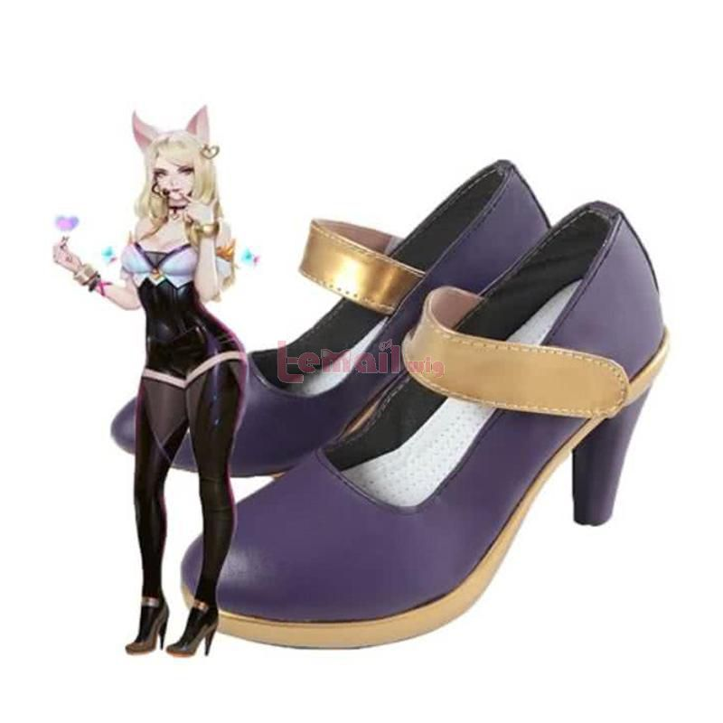 LOL KDA Skin Nine-Tailed Fox Ahri Cosplay Shoes