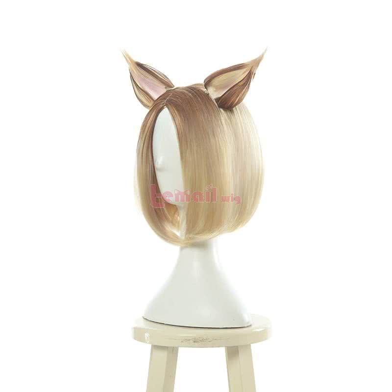 LOL KDA Skin Prestige Edition Nine-Tailed Fox Ahri Black Gradient Blonde Cosplay Wigs