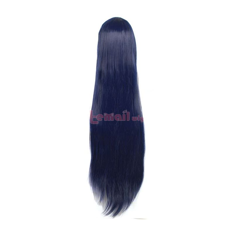 LOL The Nine-Tailed Fox Ahri Long Blue Mixed Black Straight Cosplay Wigs