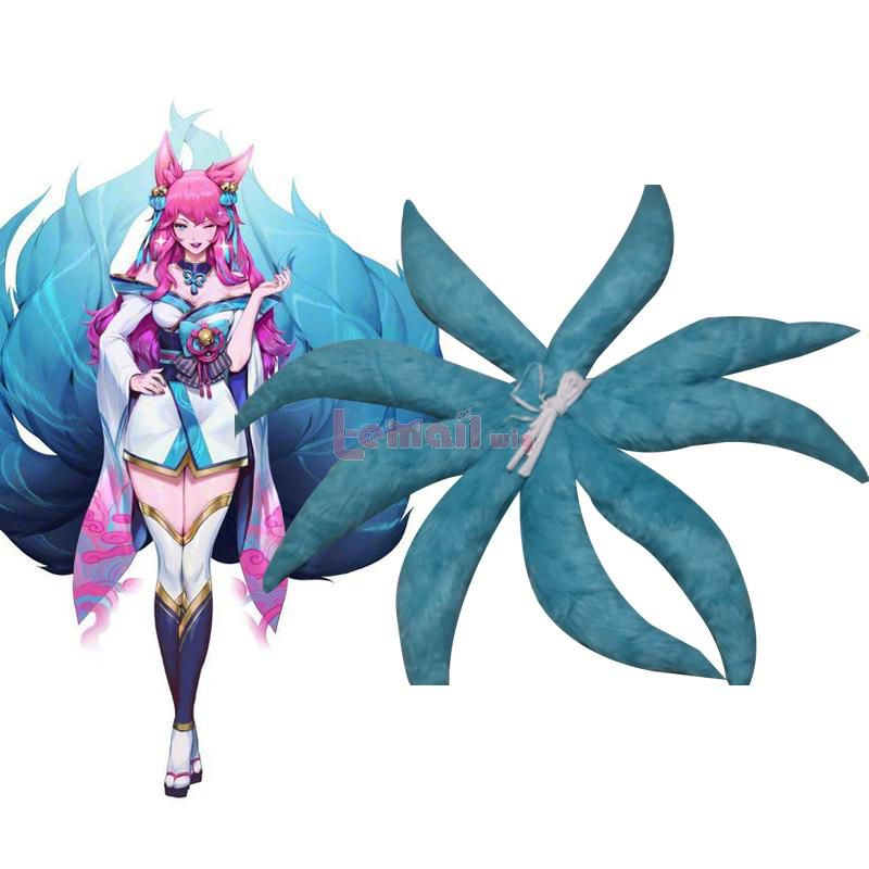 LOL Spirit Blossom Ahri Feather Cosplay Tails