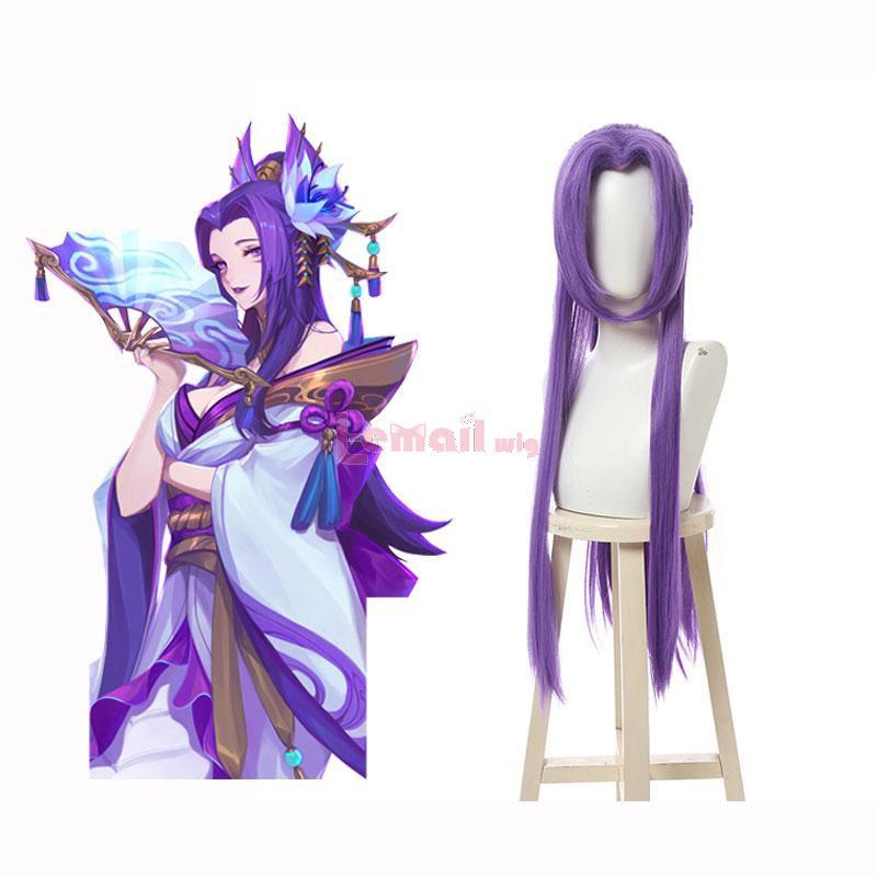 LOL Spirit Blossom Cassiopeia Long Straight Purple Cosplay Wigs