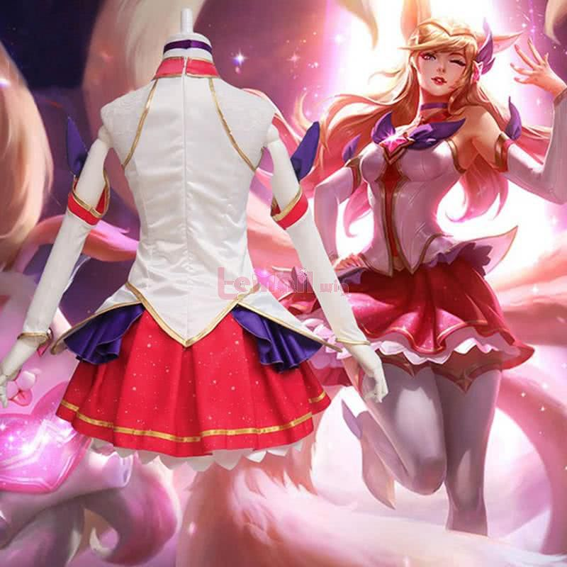 LOL Magic Girl Full Set Star Guardian the Nine-Tailed Fox Ahri Cosplay Costumes