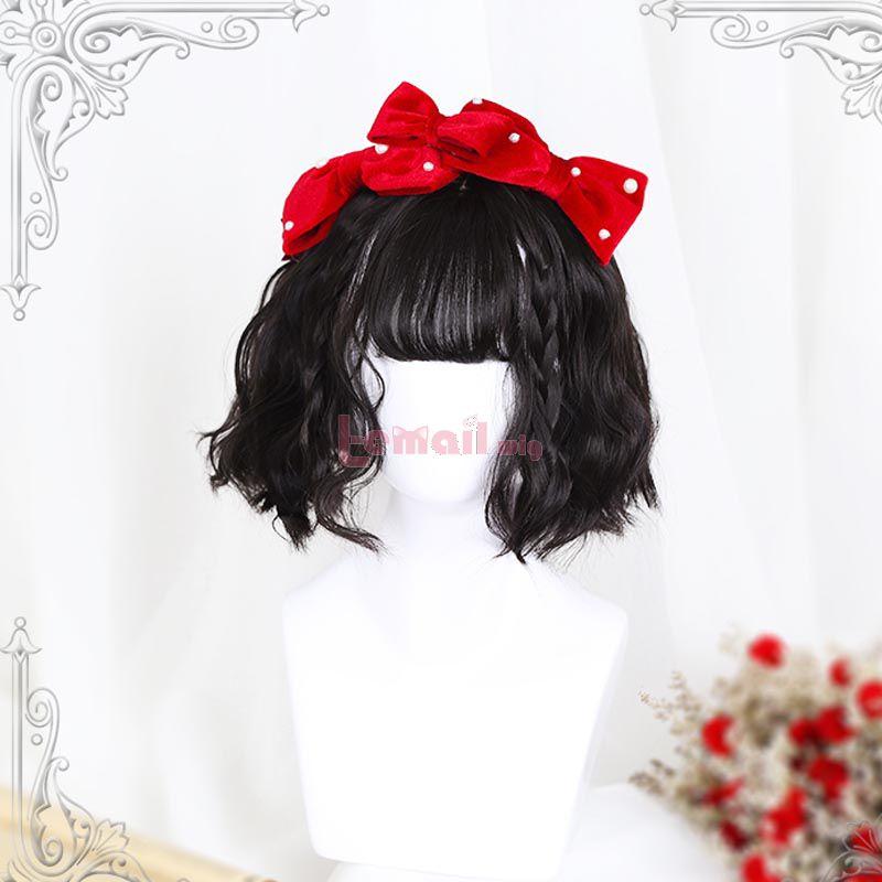 Lolita 30cm Curly Black Trendy Cosplay Wigs