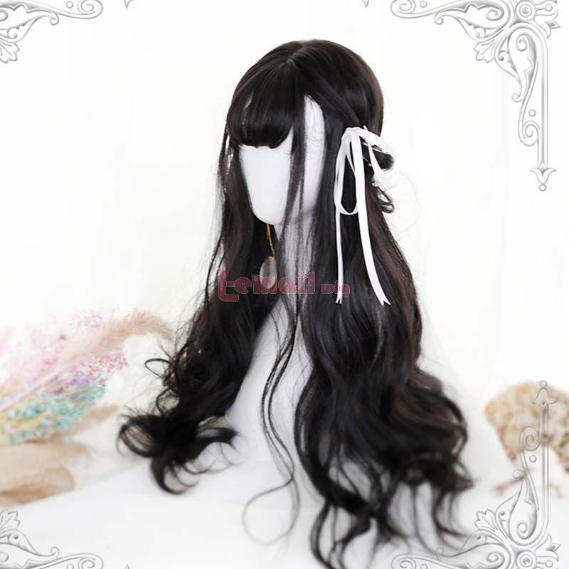 Lolita 65cm Curly Black Brown Fashion Cosplay Wigs