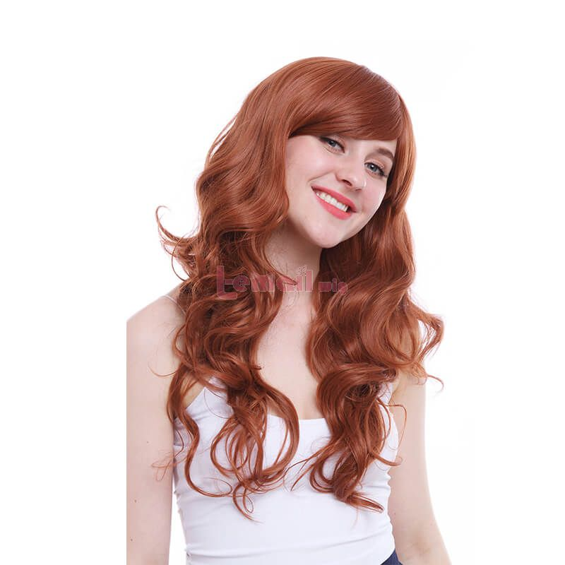 long curly brown wigs