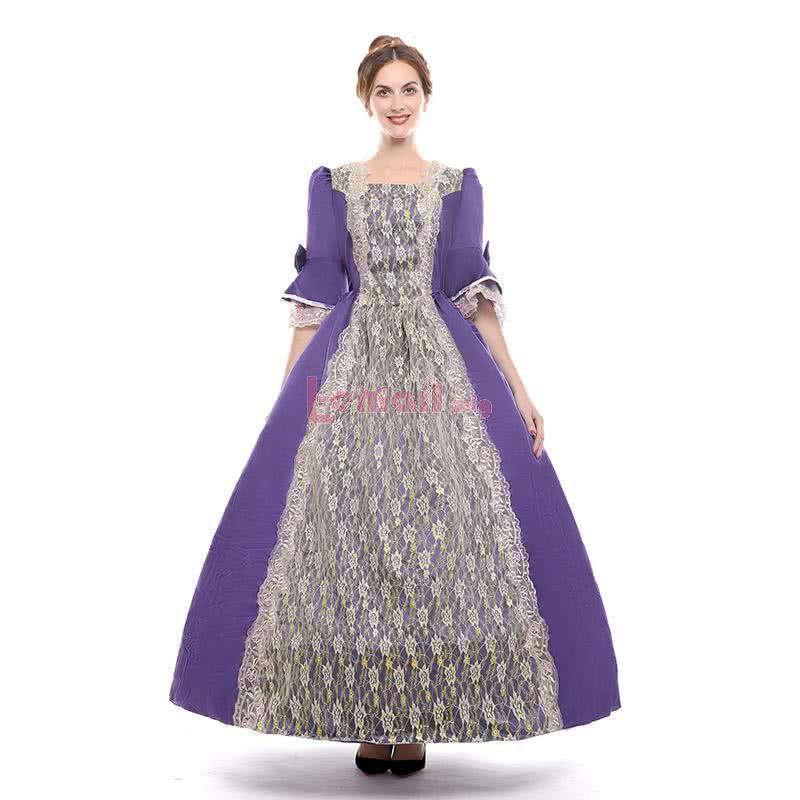 Long European Court Costume Women's Event Banquet Vintage Dress