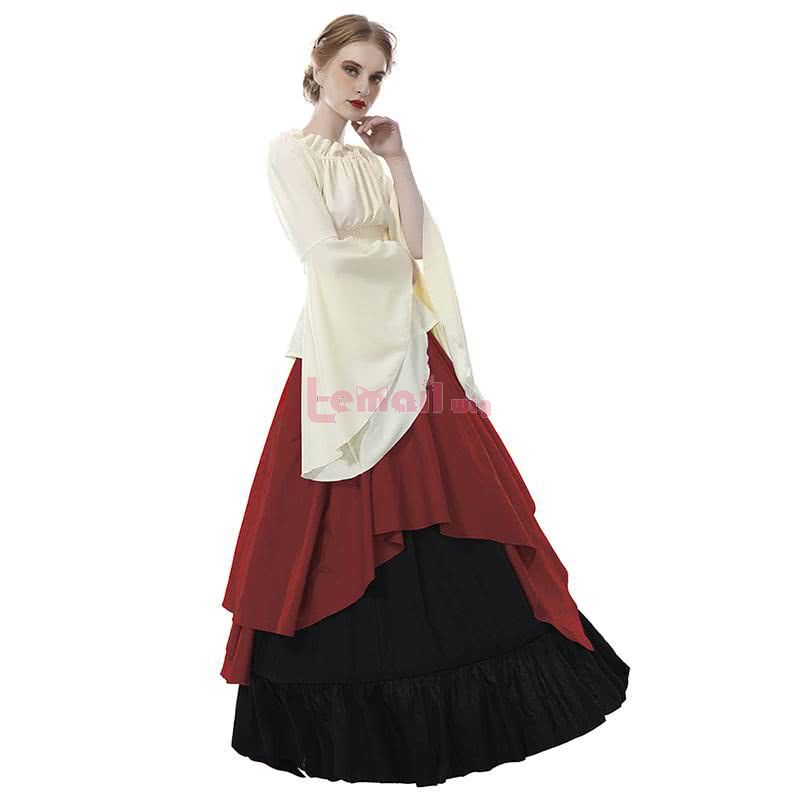 Long Renaissance Medieval Dresses Gothic Women Halloween Party Masquerade Costumes Dress for Party Wedding