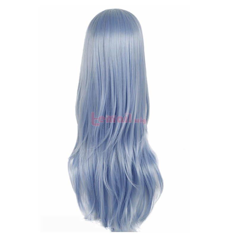 long straight blue anime wigs