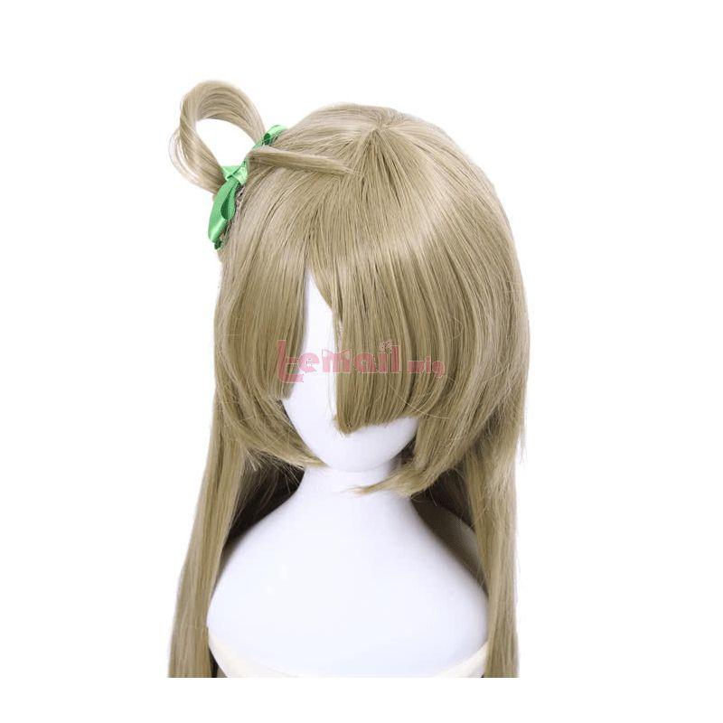 Love Live 90cm Straight Flaxen Minami Kotori Cosplay Wig+bowknot