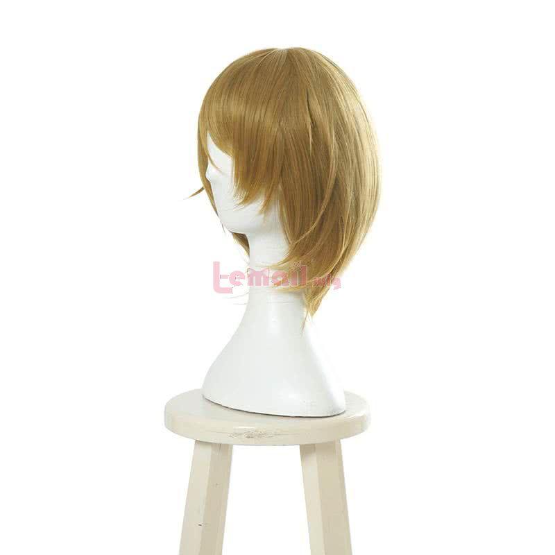 LOVE LIVE Hanayo Koizumi 30cm Short Gold Straight Cosplay Wig