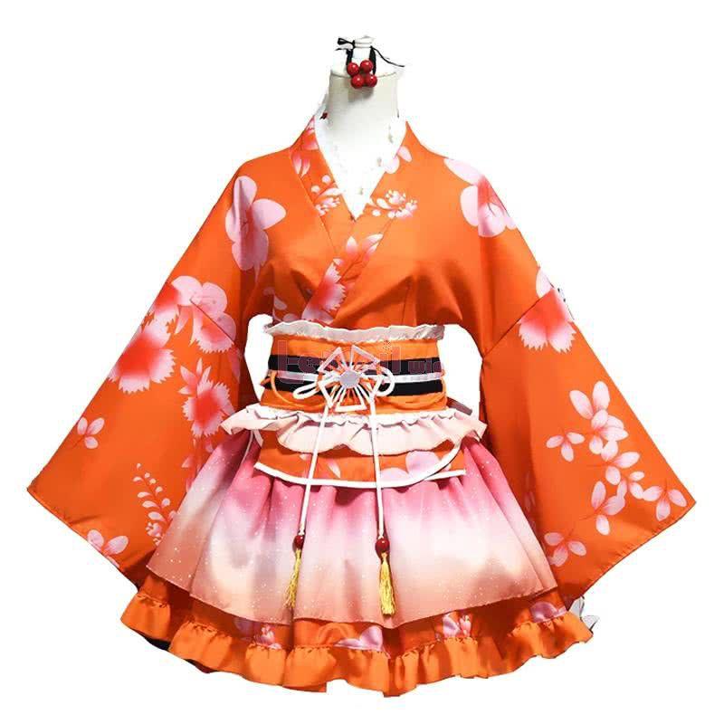 LoveLive! Sonoda Umi Kimono Nishikino Maki Honoka Honoka Eli Kimono Cosplay Costume
